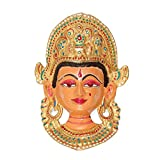 CraftVatika Devi Wall Hanging Colorful Handmade Painted Metal Wall Sculpture Decorative Wall Mask Art Art Decor India