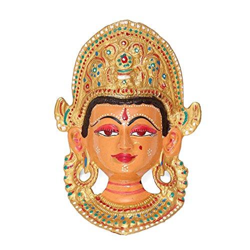 CraftVatika Devi Wall Hanging Colorful Handmade Painted Metal Wall Sculpture Decorative Wall Mask Art Art Decor -