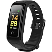 Zippem Smart Bracelet Heart Rate Monitor Fitness IP67 Waterproof Pedometer Smart Watches (Black)