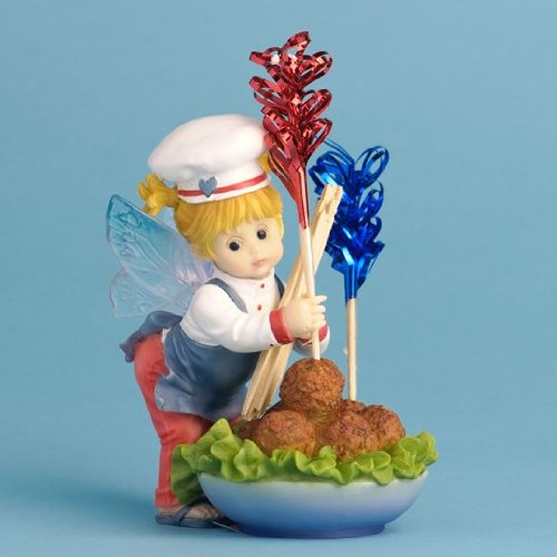 Enesco My Little Kitchen Fairies Fairie Making Meatballs Figurine, 4-Inch