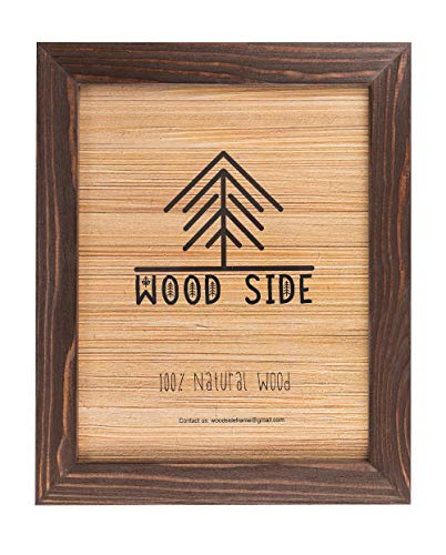 Rustic Wooden Picture Frame 11x14-100% Natural Solid Eco Distressed Wood for Wall Mounting Photo Frame - Brown Wenge