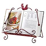 Koehler Home Kitchen Decorative Gift Red Rooster Cookbook Stand