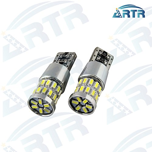 2PCS ARTR Pure White Canbus T10 W5W 168 192 194 30SMD 3014 LED Bulbs Great update for DRL Side Marker Lights