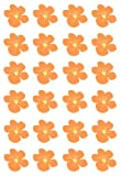 PRE-CUT ORANGE HAWAIIAN FLOWER FLAT EDIBLE RICE / WAFER PAPER CUP CAKE TOPPERS PARTY DECORATION by Flowers