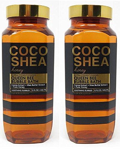 Conditioning Bath - Bath & Body Works Coco Shea Honey 15 Ounce Ultra Conditioning Queen Bee Bubble Bath Bundle of 2