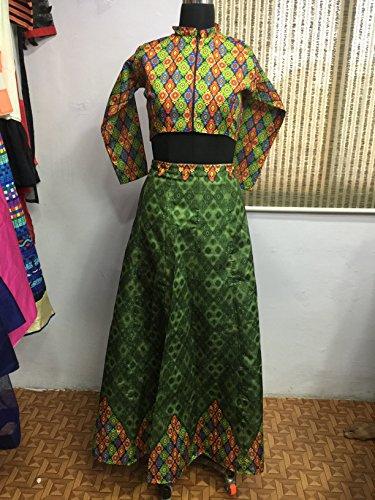 Multi Printed Lehengas Mohit Creations Choli Green Color Traditional Wedding Dark IqwEROw