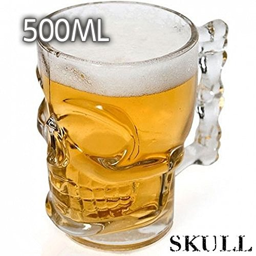 teambuckle 500ML Crystal Skull Head Vodka Shot Whiskey Home Wine Beer Glass Drinking Cup