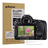 Macolink Tempered Glass Screen Protector for Canon EOS 80D 70D T7i(800D) T6s(760D) T6i(750D) T5i(700D) T4i(650D) 7D Mark II(7D2) 8000D -(2 Pack)
