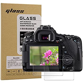 Amazon com: (2 Pack) VKO LCD Screen Protector Compatible for Canon