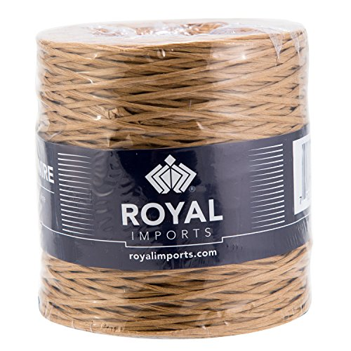 Bouquet Tie (Natural Floral Bind Wire Wrap, Paper Covered Waterproof Rustic Vine for Flower Bouquets 26 Gauge (673 Ft) by Royal Imports)