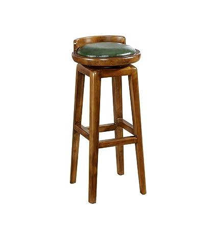Amazon.com: Luxury American Style Rotatable Bar Chairs Retro ...