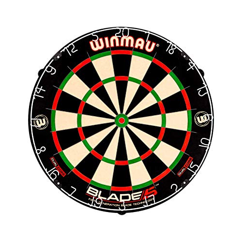 Winmau Blade 5 Dual Core Bristle Dartboard with Increased Scoring Area and Improved Dart Deflection...