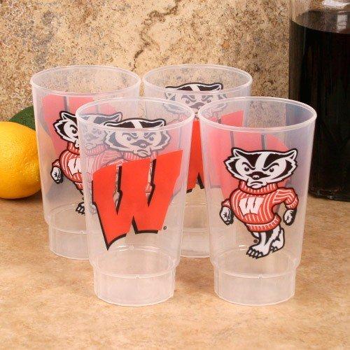 - Wisconsin Badgers Plastic Tumbler 4-Pack