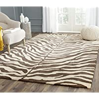 Safavieh Bergama Collection BRG194A Handmade Beige and Brown Premium Wool Area Rug (4 x 6)