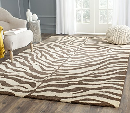 Bergama Runner Rug - Safavieh Bergama Collection BRG194A Handmade Beige and Brown Premium Wool Area Rug (8' x 10')