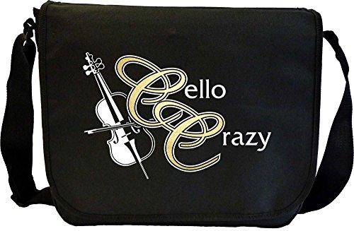 Cello Crazy - Sheet Music Document Bag Musik Notentasche MusicaliTee YHYlmB