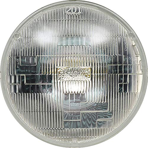 """SYLVANIA - H6024 SilverStar Sealed Beam Headlight - High Performance Halogen Headlight Replacement (7"""" Round) PAR56, Brighter & Whiter Light for Added Clarity Downroad and Sideroad, (Contains 1 Bulb)"""