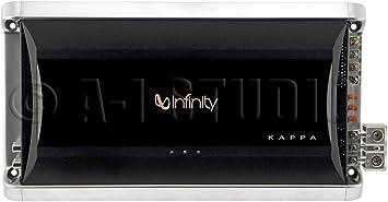 Infinity Kappa One - Amplificador monocanal para vehículos, plateado y negro