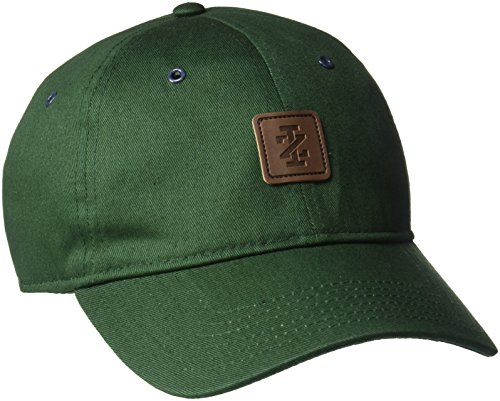 (IZOD Men's Brushed Cotton Twill Patch Adjustable Baseball Cap, Green, One)