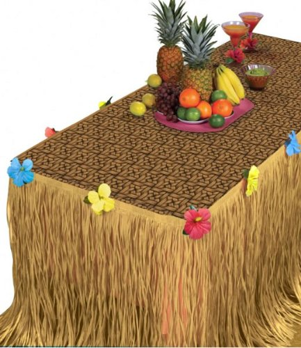 Summer Luau Transform-a-Table Decorating Kit Tropical Hawaiian Beach Party Decoration, 2 Pieces, Made from Plastic, Any, by Amscan
