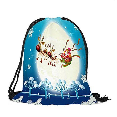✈ HYIRI Merry Christmas Candy Pocket Bag, Satchel Rucksack Bundle Drawstring Storage Bag