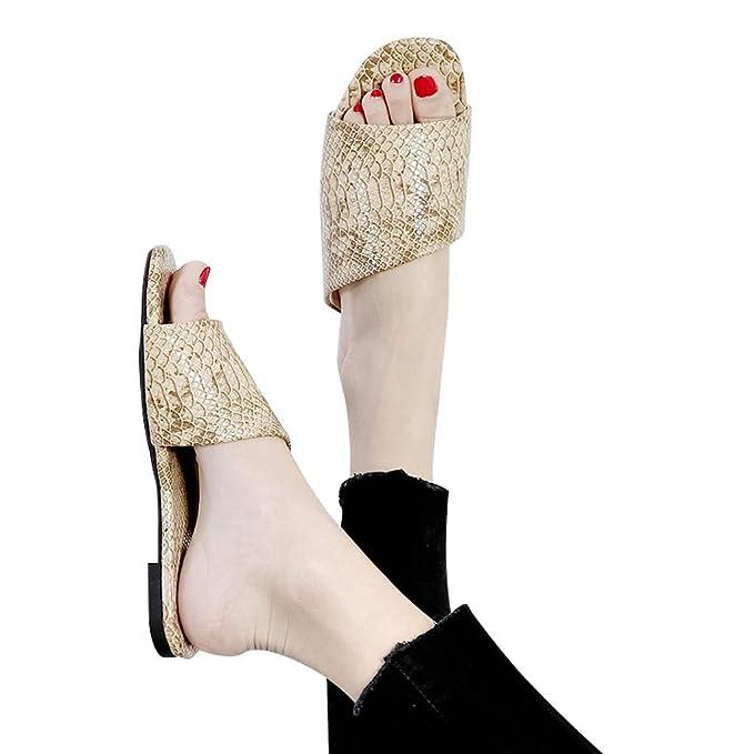 Darringls Sandalias Mujer Verano Sandalias Zapatillas Plataforma Antideslizante para Interior y Al Aire Libre Estampado de Serpiente: Amazon.es: Ropa y ...