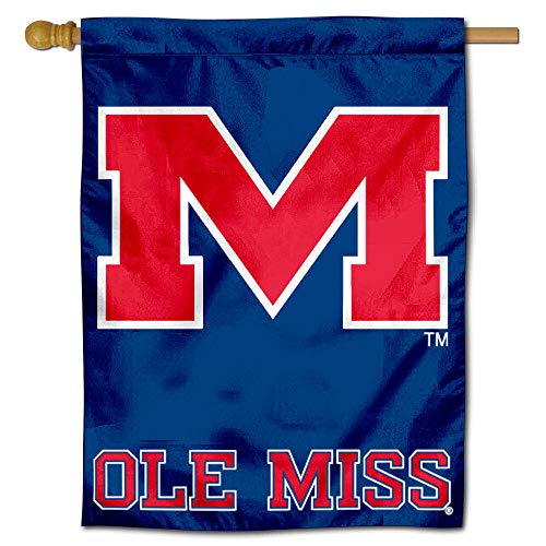 College Flags and Banners Co. University of Mississippi Ole Miss Rebels House Flag