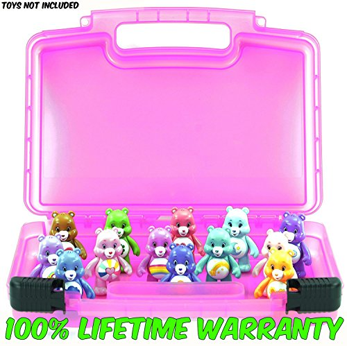 Harmony Bear Costume (Life Made Better Toy Storage Organizer - Compatible With Care Bears Mini Figures - Durable Carrying Case- Pink)