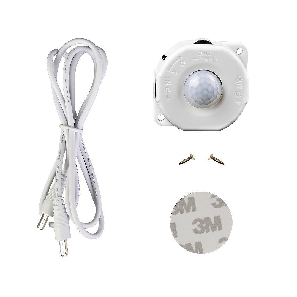 Motion Sensor LED Strips,LUXJET Super Bright Rope lights with motion sensor controller,Flexible LED Tape with 12V UK Plug for Home lighting,Room,Kitchen,Pathway Decoration (3M)