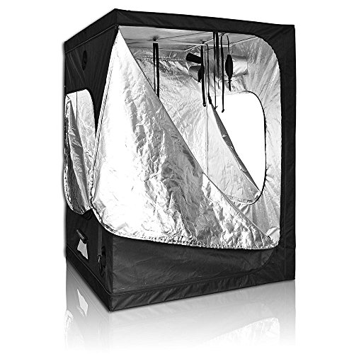 "51wFgoiLCJL - LAGarden 60x60x78"" 100% Reflective Diamond Mylar Hydroponics Indoor Grow Tent Non Toxic 600D Planting Room"