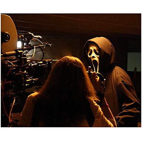 Scream Set Filming Behind the Scenes Close Up of Ghost Face 8 x 10 Inch (Halloween 4 Final Scene)