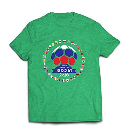 lepni.me Camisetas Hombre Las 32 Banderas del Equipo de fútbol Nacional - Copa del Mundo de fútbol de Rusia 2018 (Medium...