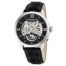 Stuhrling Original Men's 574.02 Symphony Aristocrat Executive II Automatic Skeleton Black Dial Watch