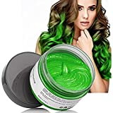 Temporary Green Hair Color Wax, Efly MOFAJANG Instant Hairstyle Cream 4.23 oz Hair Pomades Hairstyle Wax for Men and…