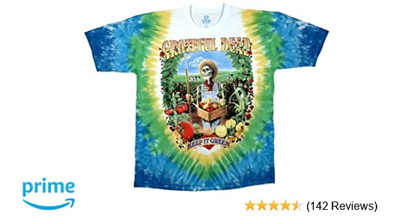 b34fa4ba Liquid Blue Men's Grateful Dead Let It Grow Short Sleeve T-Shirt, Multi,  Large | Amazon.com