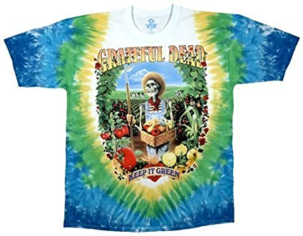 d32947a1 Liquid Blue Men's Grateful Dead Let It Grow Short Sleeve T-Shirt,Multi,