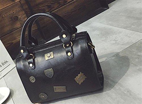 Rétro Tour Messenger Unique à à Shopping Tourisme Mode bandoulière SHOUTIBAO Sac Main Party Bag black Femmes Sac Badge PYOwFBcqSW