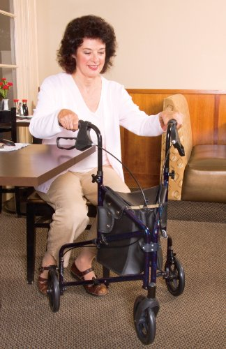 Carex 3 Wheel Walker For Seniors, Foldable, Rollator Walker With Three Wheels, Height Adjustable Handles by Carex Health Brands (Image #2)