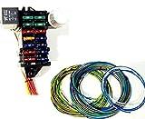 Street Rod Universal 14 Fuse 12-14 Circuit Wire Harness w- FR/RR Lt Wiring
