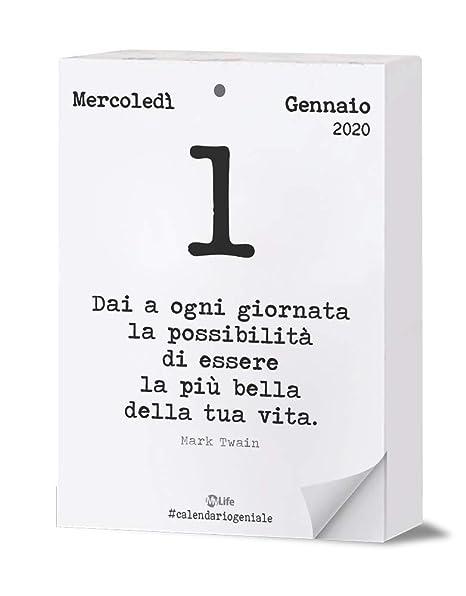 Calendario Filosofico 2020 Frasi.Calendario Geniale 2020 Maxi Leggi La Frase Del Giorno Con