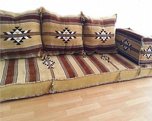 Orientalische Sitzecke,Orientalisches Sofa ,Kelim Sitzecke Traditionell 5 teilig Sahara Beige
