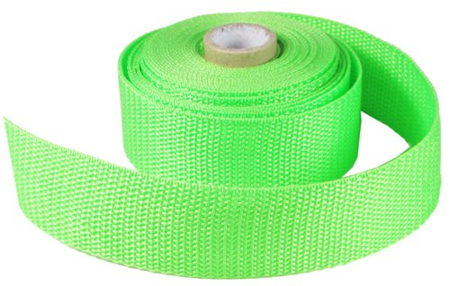 HipGirl 1 1/4 Inch Green Polypro Webbing, 10 Yards, For DIY Key Chain Fob, Yoga Strap, Tote, Bag Handle, Backpack Strap, Belt, Leash, Outdoor Chair and Furniture