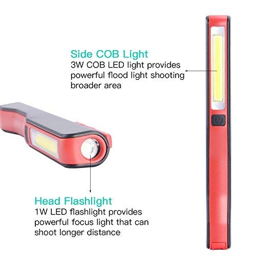 Lampe Torche Led De Travail Rechargeable Lampe D Inspection Cob