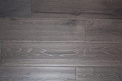 "Elk Mountain Oak Grey 3/4"" x 5"" Hand Scraped SOLID Hardwood Flooring NH200 SAMPLE"
