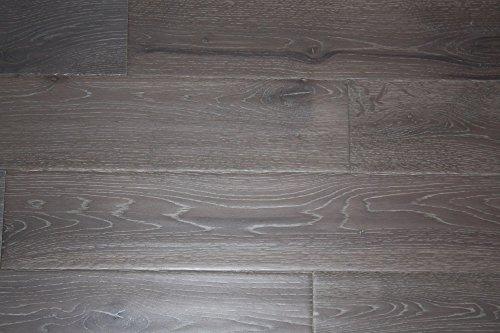 "Elk Mountain Oak Grey 3/4"" x 5"" Hand Scraped SOLID Hardwood Flooring NH200 SAMPLE"