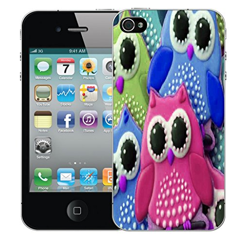 Mobile Case Mate iPhone 5 Silicone Coque couverture case cover Pare-chocs + STYLET - Young Owl pattern (SILICON)