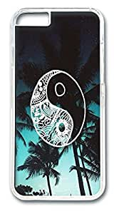 VUTTOO Palm Tree Good Vibes Polycarbonate Hard Case Cover for iphone 6 plus 5.5inch Transparent