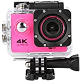 Sandsitore 4K Sport Action Camera 16MP WIFI Waterproof Camera 2inch LCD Screen 170 Ultra Wide-Angle Lens Underwater Camcorder And Full Accessories Kits (Pink)