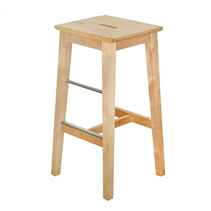 bf29471af61 Amazon.com  Barstools MAZHONG Solid Wood Bar Stool Kitchen Counter ...