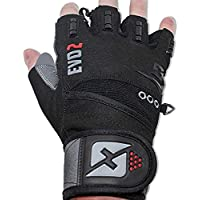 2018 Evo 2 Weightlifting Gloves with Integrated Wrist...